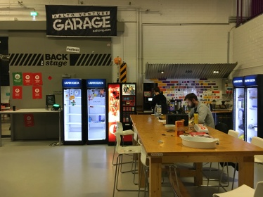 Co-working space at Aalto University's campus in Otaniemi