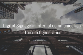 Digital Signage in internal communication