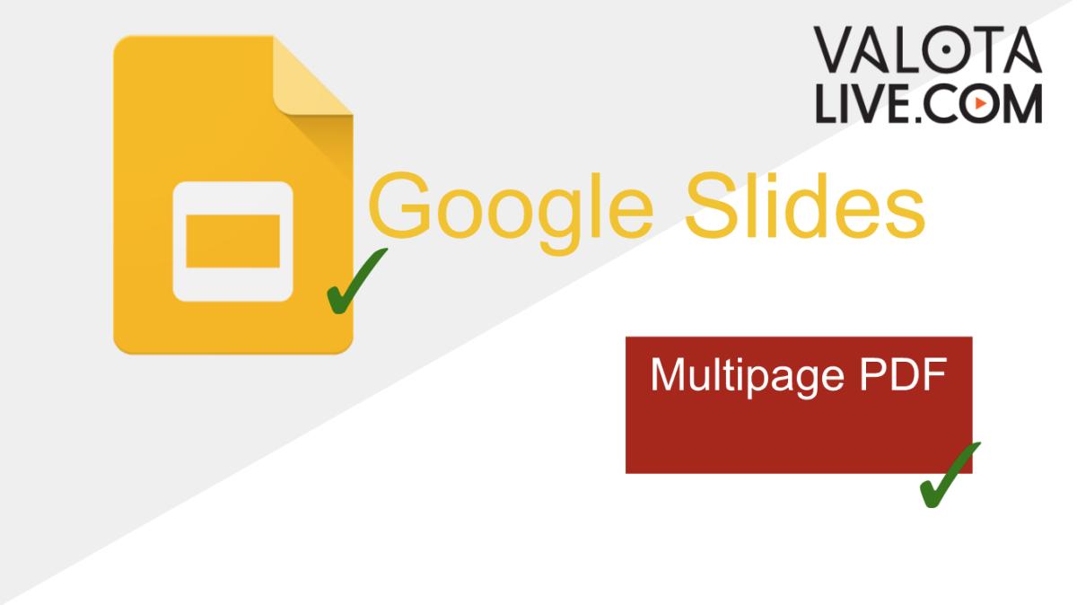 New secure Google Slides app, Multipage support for PDFs
