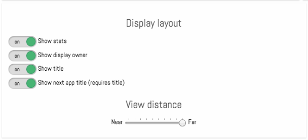 Valotalive programmatic view distance controls